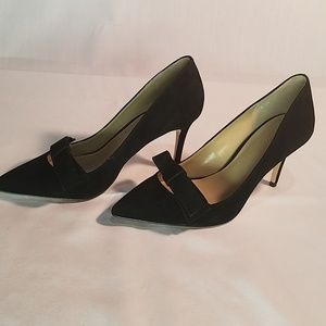 Coach Odette Suede Bow Pumps